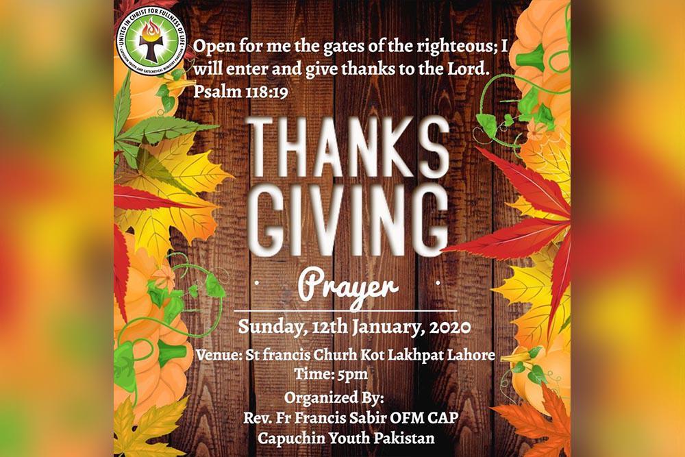 Thanks giving Prayer 2020
